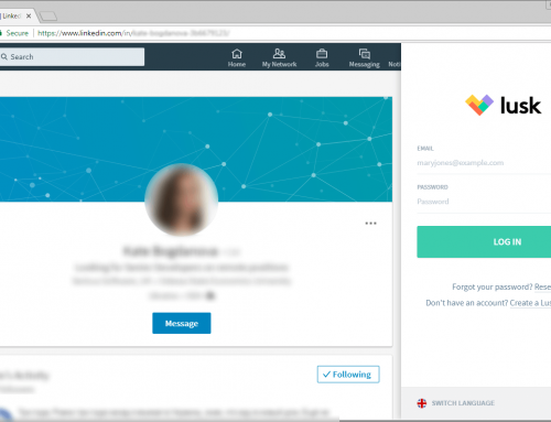 Lusk Recruiter Browser Extension